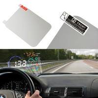 gövdeye monte baş yukarı ekran toptan satış-120 * 90mm Araba HUD Film yansıtıcı film Sıcak Araba Styling OBD II Yakıt Tüketimi Aşırı Hız Ekran Araç monte Head Up Display ...
