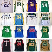 Wholesale Mens School - Cheap player High School Jersey Mens Charles Barkley Tracy Mcgrady Vince Carter Markelle Brandon Ingram Lonzo Ball Basketball Jerseys