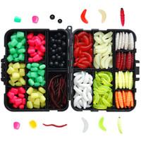 Wholesale soft bait mix online - Carp Fishing Tackle Box Kit Fishing Accessories Mixed Beads Soft Lures Imitation Baits Carp Gear Kit