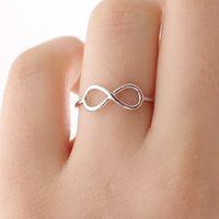ingrosso lettere numeri di simboli-Cina numero fortunato 8 digitale 8 numeri 8 anello di fascino Semplice fortunato inglese lettere cinese simbolo simbolo anello gioielli amore è così semplice