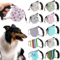 Wholesale 5m retractable dog lead leash - 5m Automatic Retractable Leash Dog Pet Rope Tape Walking Lead Dog Pet Rope Tape Walking Lead 11styles FFA283 30PCS