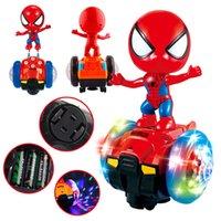 rotierende lichter für kinder großhandel-Elektrische all-direktionale Balance Auto Spielzeug 360 Grad automatische rotierende Licht Musik Spielzeugauto Nachtmarkt grenzüberschreitende Quelle von Kinderspielzeug