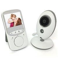 ir radyo toptan satış-Kablosuz Ses Video Bebek Monitörü Radyo Dadı Müzik Interkom IR 24 h Taşınabilir Bebek Kamera Walkie Talkie Babysitter