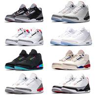 best cheap af6e2 14e17 Nike Air Jordan Retro 3 3s Zapatos de baloncesto de diseño de hombre  Katrina Tinker JTH NRG Free Throw Line Cemento de color negro Corea Pure  White Fire Red ...