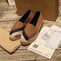ingrosso pattini handmade delle pompe-[Original Box] Luxury Fashion Womens Flat Fisherman Pumps Handmade Dress Design Slip-On Shoes Dimensione 35-40