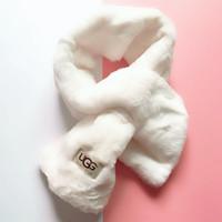 Wholesale furs scarf resale online - New Brand Girls Scarves Brand Kids And Children Velvet Scarf Fluffy Soft Fur Textile Scarf Fashion Winter Ring Scarf