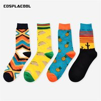 Wholesale pineapple patterns - [COSPLACOOL]Autumn Winter New Arrival Unisex Happy Socks Art Abstraction Creative Pattern Fruit Pineapple Women Socks Fashion Funny Socks