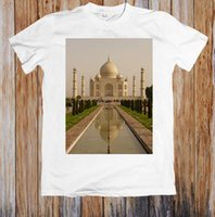 berühmte kunststoff großhandel-Art- und Weisekurzschluß Taj Mahal der Männer spätestes 2018 berühmtes Unisex T-Shirt Kurzhülse Männer T-Stück T-Shirt O-Ansatz strickte bequemen Stoff