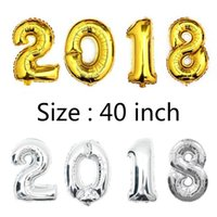 Wholesale Wedding Balloons For Kids - 40 inch Gold Silver Number Foil Balloons for Wedding Party Decoration Happy Birthday Kids Balon Globos