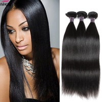 Wholesale Best Indian Hair - Ishow Human Hair Best 10A Brazilian Straight 3Bundle Deals Cheap Remy Human Straight Hair Weave Bundles 8-28 Inch Natural Hair Extensions