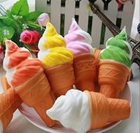 für squishy großhandel-3D Nette Jumbo Seltene Squishy Charme Ice Cream Phone Straps keychain Squishy Langsam Steigende Squeeze Squishies Spielzeug Für Kinder Spielzeug