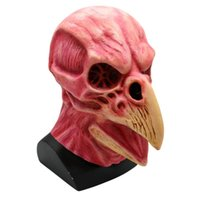masque d'oiseaux achat en gros de-Horreur Fête Héros Halloween Horreur Tête Squelette Masque Latex Animal Prop Adulte Accessoires Clown Masque Couvre-chef