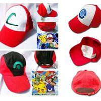 ingrosso tasca pokemon-Pokes Hat Cosplay Anime Pocket Mostro Ash Ketchum Baseball Trainer Hat Hat Gift Cool moda XL-H01