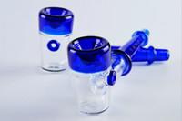 Cheap Heady Blue Glass sherlock glass hand pipe smoking tobacco SPOON pipe high quality hand pipe