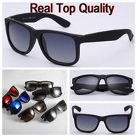 ingrosso occhiali da sole per uomo originale-Occhiali da sole di marca 4165 di alta qualità, modello justin per obiettivi polarizzati UV400 da uomo donna con scatole originali, pacchetti, accessori, tutto!