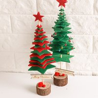 tela de decoración de oficina al por mayor-Ornamento de Navidad 1 Unids Nonwovens Cloth Desk Home Office Supplies Decoración Regalo No Tejido Árbol de Navidad Enfeites De Natal @ T20