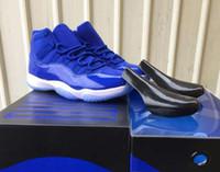 ingrosso nero nero 11s-New 11 11s Royal Blue Scarpe da basket uomo donna blu royal nero bianco atletico scarpe da ginnastica di alta qualità con scarpe box