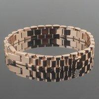 pulseiras de ouro do oriente médio venda por atacado-Hot estilo oriental moda homens e mulheres pulseira 18k rosa de ouro casal pulseira pulseira pulseira de aço inoxidável pulseira de pulso
