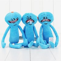 Wholesale happy plush - Wholesale-Rick and Morty Happy Sad Faces Mr Meeseeks Figures Plush Stuffed Kids Doll Toys Rick and Morty Accessories Merchandise Gift