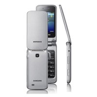 Wholesale gsm button - Original Samsung C3520 2.4inch Flip Mobile Phones 1.3MP 2G GSM Big Buttons Unlocked Cell Phones