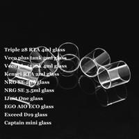 tanque para ijust al por mayor-Triple 28 RTA Veco Plus Tank Kensei RTA NRG SE IJust One EGO AIO ECO Exceed D19 Captain Mini Pyrex Tubo de vidrio de repuesto