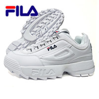 Wholesale cool shoes for women - 2018 Top Fila Disruptors Fashion Casual Dad shoes For Men Women Running White Black Cool Grey Luxury Outdoor Sports Sneakers size 4-10