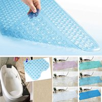 Wholesale bathroom shower tubs - Bath Shower And Tub Mat PVC Anti-slip Bathtub Mat With Suction Cup Home Decor 40*100cm 6Colors HH7-1048