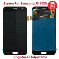 digitalização lcd substituição samsung galaxy venda por atacado-Brilho ajustável tft para samsung galaxy j3 lcd 2016 j320 j320m j320f j320h j320fn display touch screen digitador assembléia substituição