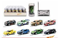 коксовые мини-гонщики оптовых-10 шт. / Mini-Racer Coke Can Пульт Дистанционного Управления Автомобилем RC Радио Автомобиль Micro Racing Car 1:58 4 Частота 4 Канала + 4 Контрольно-пропускные пункты