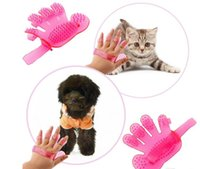 Wholesale Silicon Massage - Pet Supplies Grooming Brushes Dog Cat Bath Silicon Tools Shedding Cleaning Massage Hand Gloves
