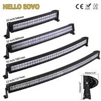 Wholesale 52 led light bar - HELLO EOVO 5D 22 32 42 52 inch Curved LED Light Bar LED Bar Work Light for Driving Offroad Car Tractor Truck 4x4 SUV ATV 12V 24V