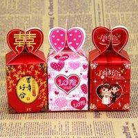 ingrosso scatola del cuore cinese-Stile cinese rosa cuore amore matrimonio carta regalo gioielli contenitore di caramelle regalo di partito forniture per l'imballaggio LX3425