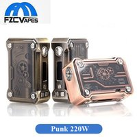 Wholesale Mechanic Style - Authentic Tesla Punk 220W Box Mod Teslacigs Steampunk Style Mechanic Style E Cigarette Vape Mod vs SMOK Mag 100% Original