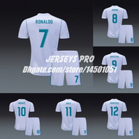 Wholesale cristiano ronaldo black jersey for sale - Group buy Camiseta de Madrid Soccer Uniforms Home Jerseys Kits Sergio Ramos Cristiano Ronaldo Gareth Bale Isco Zidane Asensio Toni Kroos Marcelo