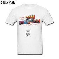 juniors mais tamanho tops venda por atacado-Camisa Tops San Junipero Preto Espelho Preto T Shirt Homens Crossfit T Verão Júnior Legal Men Plus Size Filme