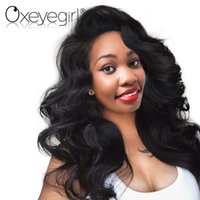 черные волосы человеческих волос парики оптовых-Oxeye girl Brazilian Body Wave Wigs with baby hair Pre Plucked Lace Front Human Hair Wigs For Black Women Non Remy Wig