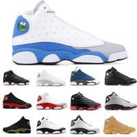 altitude 13 venda por atacado-Novo Bred 13 s Mens Sapatos de Basquete Flint Sneaker Itália Azul Trigo Esportes Ao Ar Livre Treinador Altitude Barões Verdes Tenni Sapatos