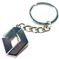 Wholesale 1Pc Fashion Brand New D Metal Car Key Ring for Renault Auto Supplies Renault Emblem Keychain Reynolds Car Accessories Key Chain