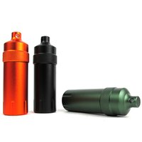 Wholesale waterproof capsule container for sale - Group buy Outdoor Camping Survival Waterproof Tank Aluminum Seal Bottle Emergency First Aid Capsule Pill Container medicine Keyring box