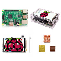himbeer-pi-touch großhandel-Raspberry Pi 3 Modell B + 3,5-TFT-Raspberry Pi3-LCD-Touchscreen-Display + Acrylgehäuse + Kühlkörper Für Raspberry Pi 3-Kit