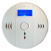 Wholesale infrared carbon - High Sensitive LCD CO Sensor Work alone Built-in 85dB siren sound Independent Carbon Monoxide Poisoning Warning Alarm Detector