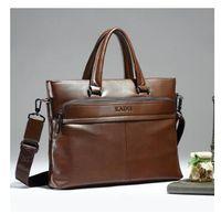 men s leather handbags NZ - Business leather men bag Korean version of men 's handbags cross - section shoulder Messenger computer bag