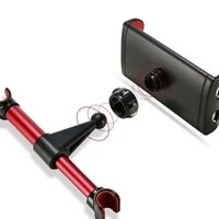 Wholesale back iphone mini online – custom Car Phone Holder Tablet Stand Car Back Seat Headrest Mount Bracket for iPhone X iPad Mini Tablet Inch