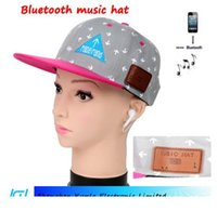 Wholesale Cell Phone Ear Caps - fashionable bluetooth baseball cap hat with colorful option Not only cool, but also able to shading the sun to listen to the music