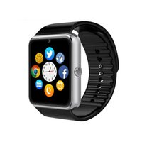 Wholesale iphone sd slot - GT08 Bluetooth Smart Watch with Camera SIM Card TF SD Card Slot Call Sync Notifier and Smart Health Watch for iphone and Android Smartphones