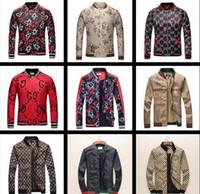 Wholesale quality outerwear - Brand Men Designer Jacket Coat Luxury Zipper Long Sleeve Autumn Sportswear Coat Windcheater Outerwear Overcoat 2018 Best Quality