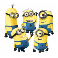 2017 New Minions Movie Wall Stickers for Kids Room Home Decorations Diy PVC Cartoon Decals Children Gift 3D Mural Arts Posters