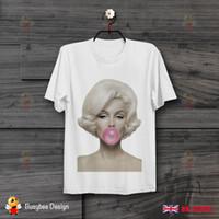 lindos pops venda por atacado-Marilyn Monroe Rosa Gum POP ART ARTE RETRO VINTAGE UNISEX T CAMISA B177 camiseta legal lindo verão t-shirt Tops Curto-Luva Engraçado