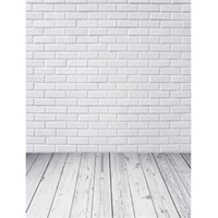 support de photographie de plancher de bois achat en gros de-Photographie de mur de brique blanche Backdrops plancher de bois imprimé bébé Accessoires de pousse de photo nouveau-né enfants enfants Backgrounds photographique pour Studio