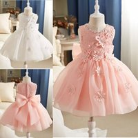 Wholesale little girls occasion dresses online - Summer Lovely Baby Flower Girl Dresses Princess Pageant Lace Appliques Tulle Little Girls Special Occasion Dresses